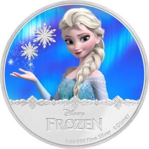 2016 Frozen - Elsa Silver Coin Reverse