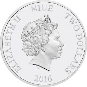 2016 Frozen - Silver Coin Obverse