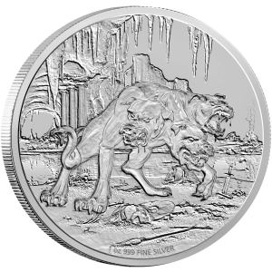 New Zealand 2016 Cerberus Silver Coin Reverse from Creatures of Greek Mythology Series