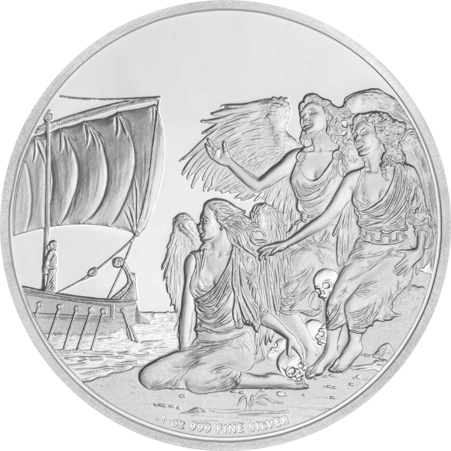 Fantasy Themed Coin Collection Featuring Engraved Illustrations
