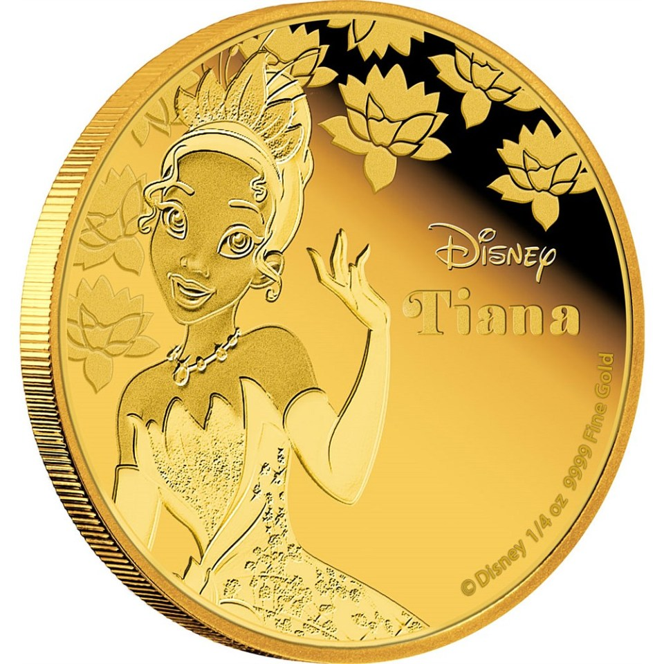 Tiana Gold Coin from Disney Princess Collection Reverse