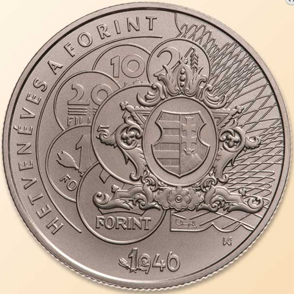 Hungary 2016 2000 Forint 70th Anniversary of Forint Coin Reverse