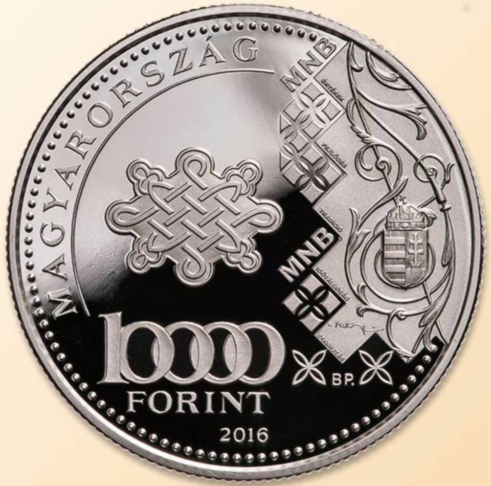 Hungary 2016 10000 Forint 70th Anniversary of Forint Coin Obverse