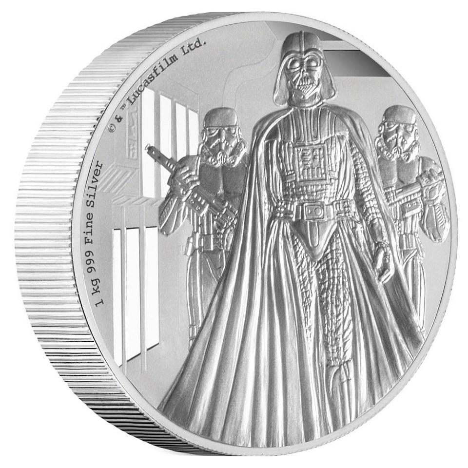 2016 Star Wars 1kg Silver Darth Vader Coin Reverse