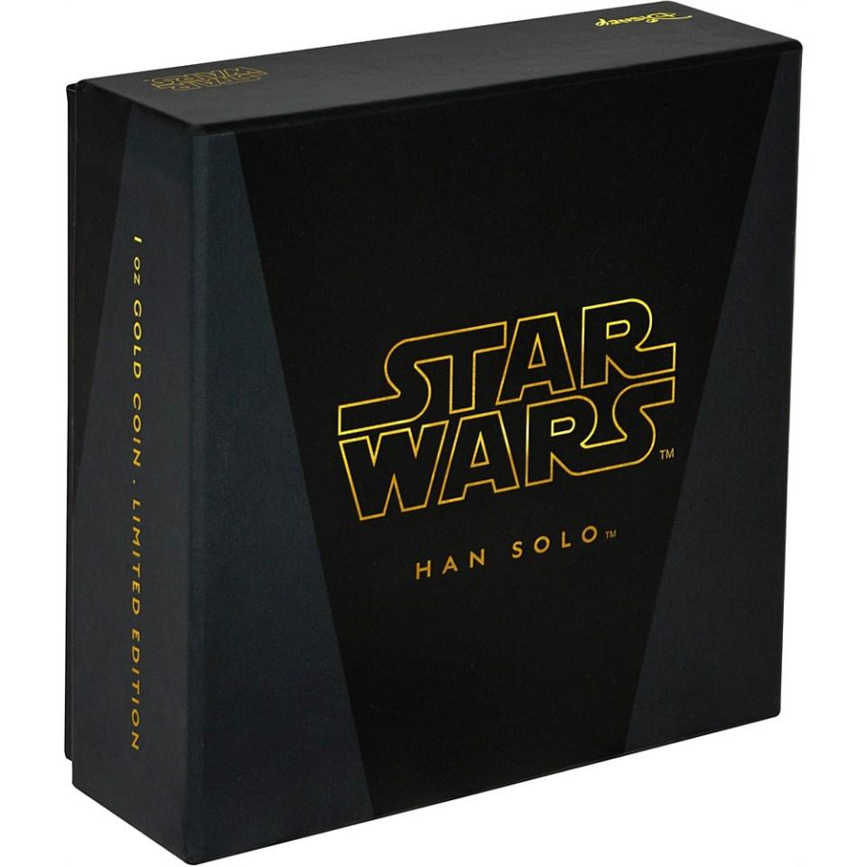 2016 Star Wars Han Solo 1oz Gold Coin Box