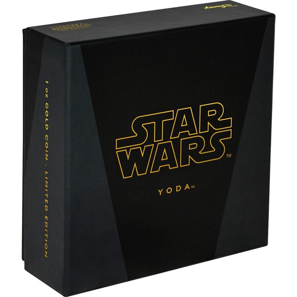2016 Star Wars Yoda 1/4oz Gold Coin Box