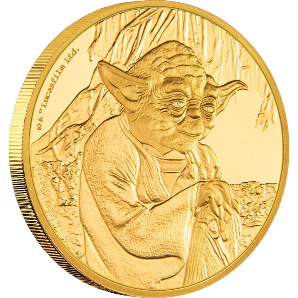 2016 Star Wars Yoda 1oz Gold Coin Reverse