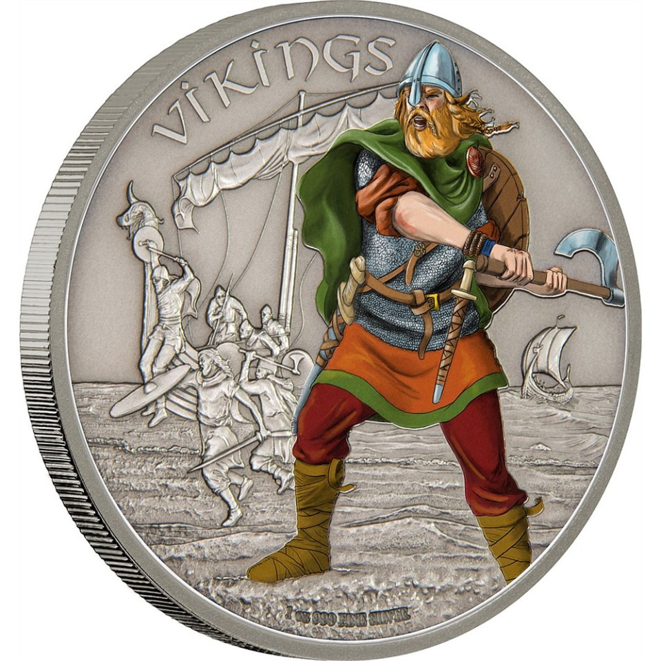 2016 Vikings Silver Coin for Warriors Of History Series