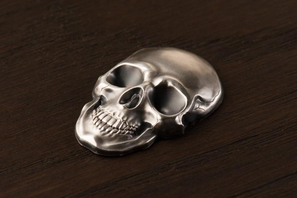 Palau 2016 Silver 1oz Skull No1 $5 Coin High Relief
