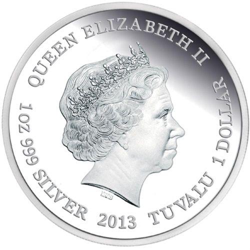 Tuvalu 2013 Silver Tazmanian Devil Coin Obverse