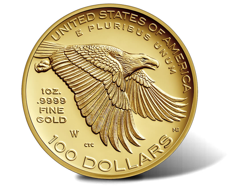 USA 2017 225th Anniversary American Liberty Gold Coin Reverse