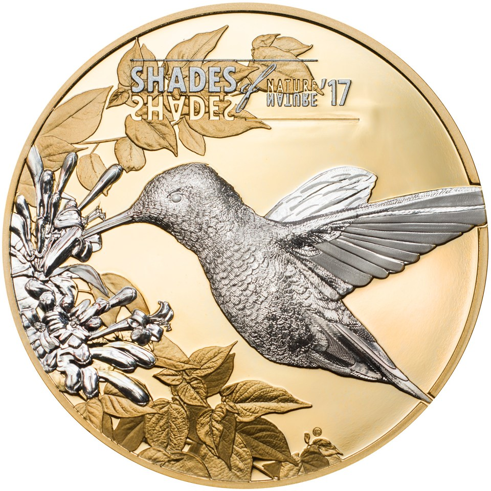 Cook Islands 2017 Shades of Nature Hummingbird Coin Reverse