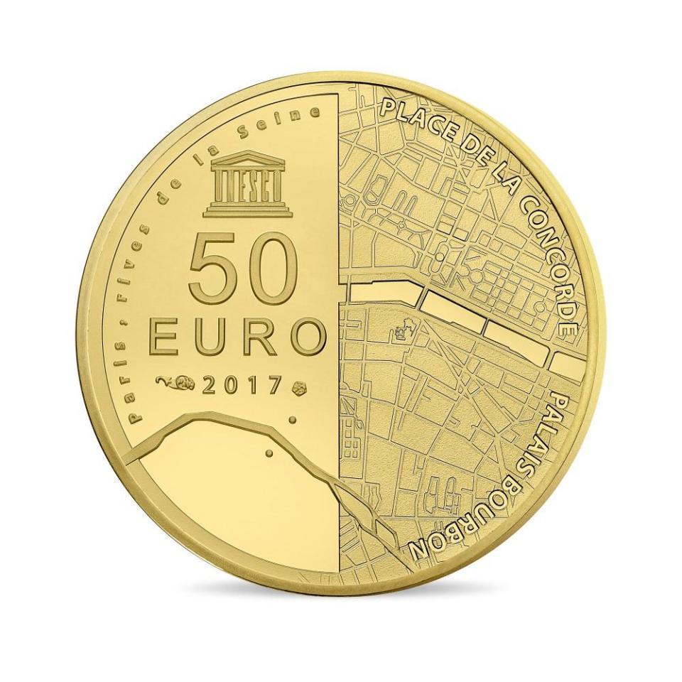 France 2017 Place de le Concorde and Palais Bourbon Gold Coin Obverse