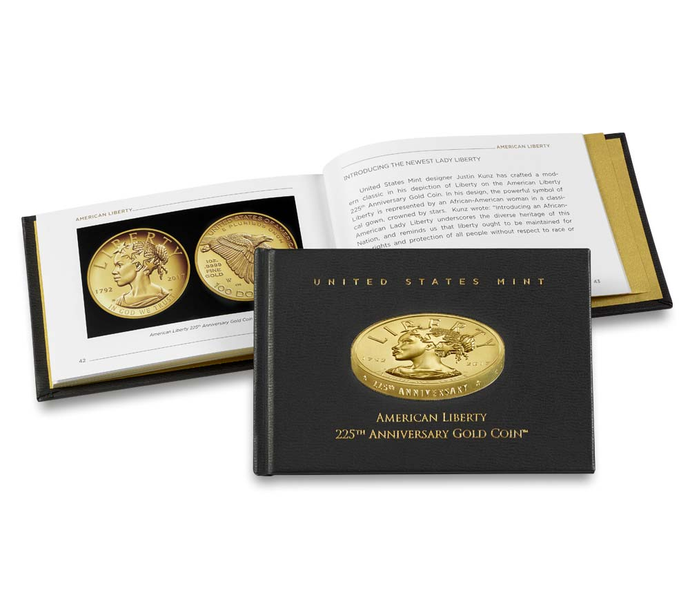 Usa 2017 225 Anniversary Gold Eagle Book World