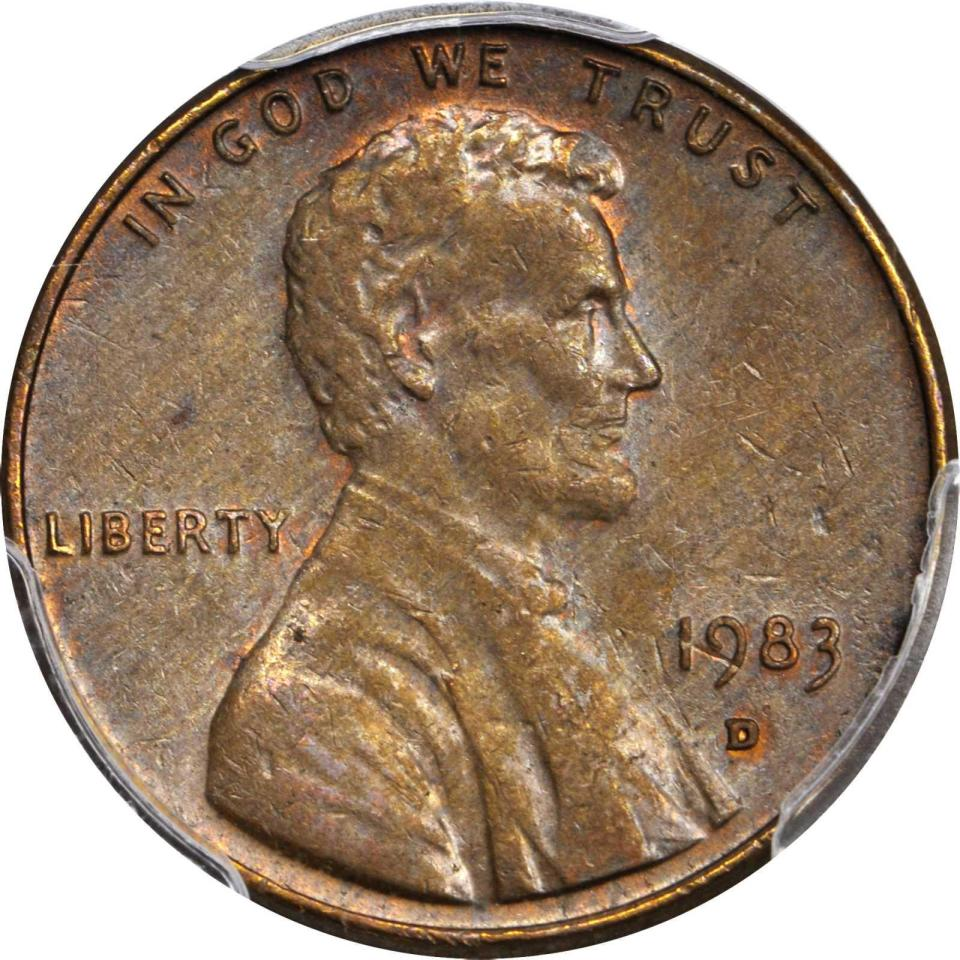 1983 D Lincoln Cent Struck on a Copper Planchet