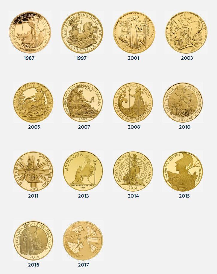 30 Years of Proof Britannia Designs