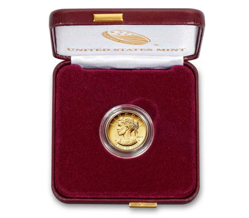 2018 American Liberty One–Tenth Ounce Gold Proof Coin in Box
