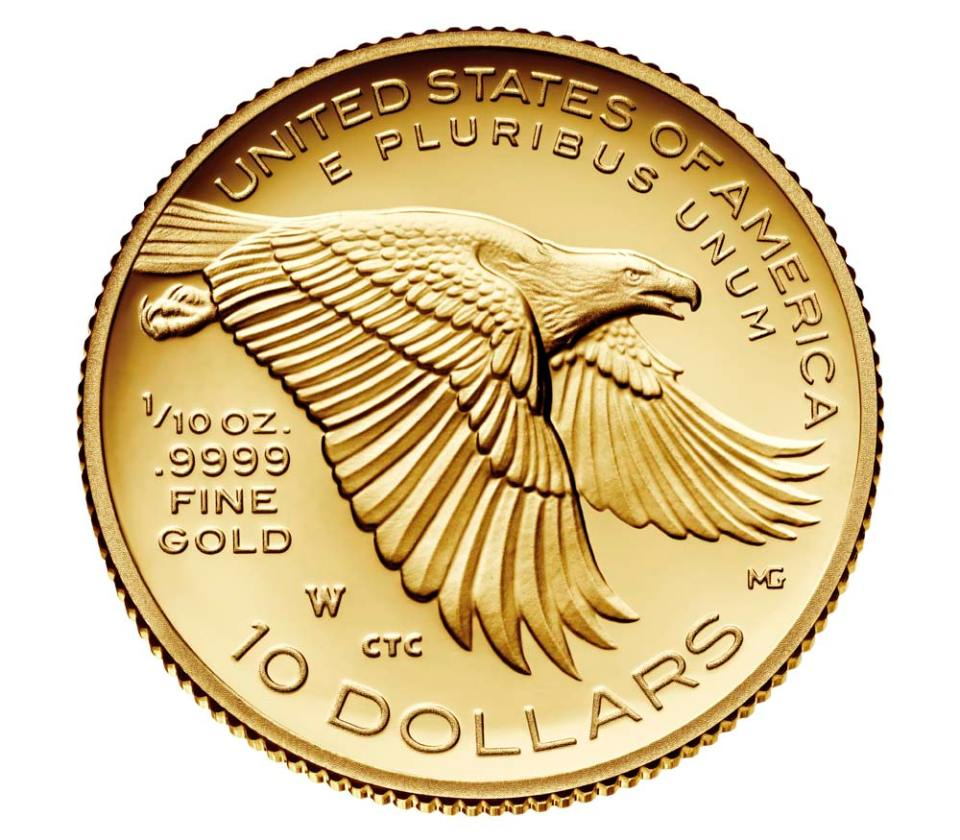 2018 American Liberty One–Tenth Ounce Gold Proof Coin Reverse