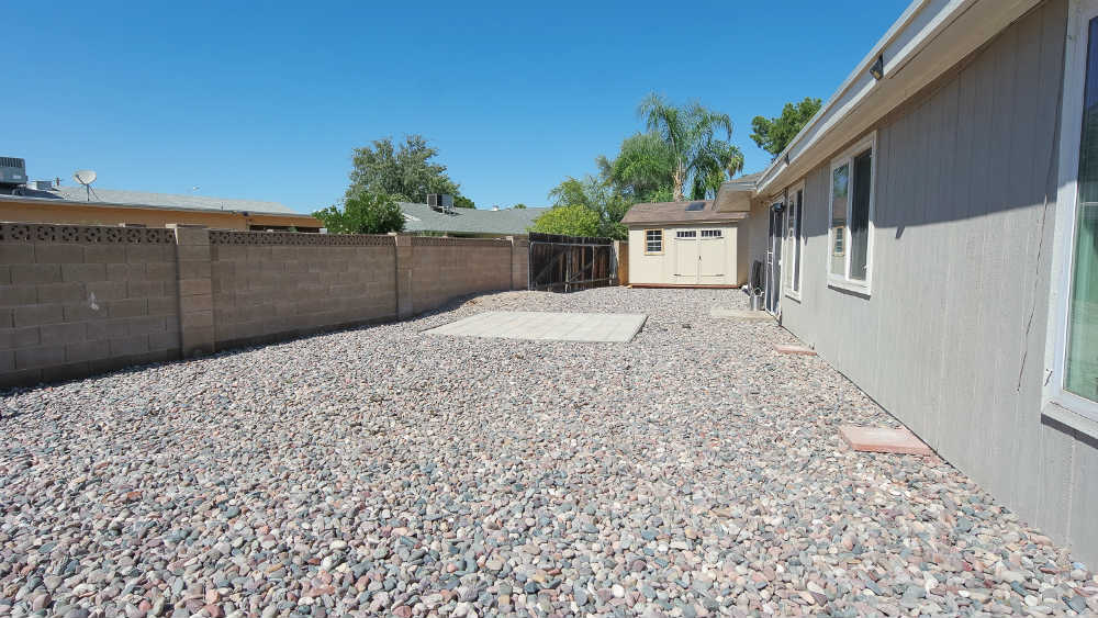 Side Yard in Queen Creek, Arizona