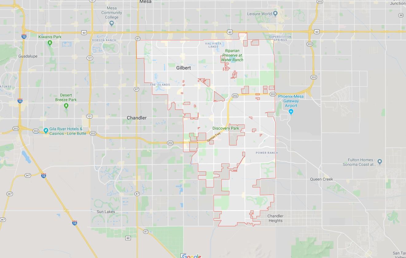 Gilbert Map Outline