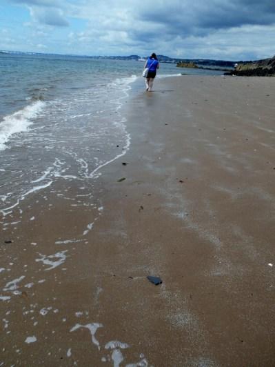 Stef on the beach