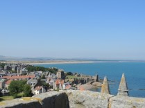 The view from St Rules Tower looking out to the West Sands and the castle by Stephanie Woods