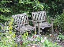 Two chairs for quiet contemplation.