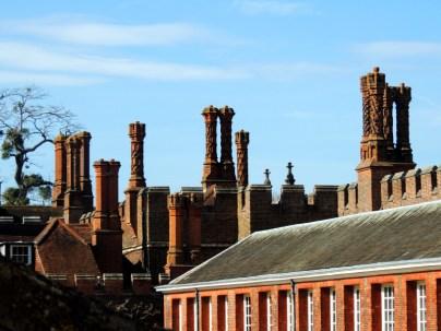 Tudor chimneys over the Georgian Extension