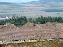Farm roof, Maspie Den, Falkland