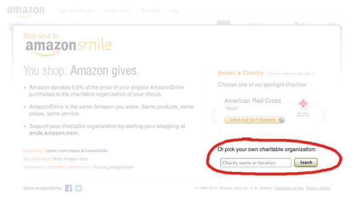 Sign into Amazon Smile