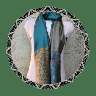 Zijde-mix sjaals