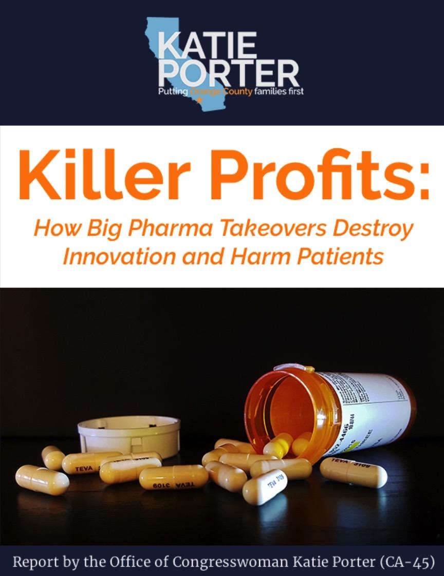 Katie Porter attacks pharma