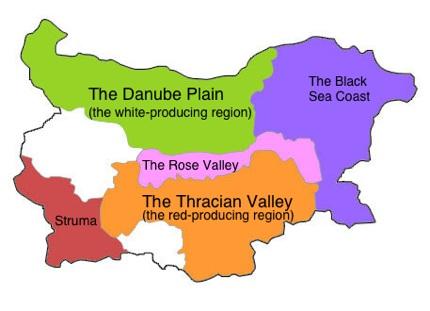 The Bulgarian wine map