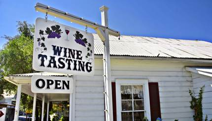 Wine tasting shop in Amador County, California