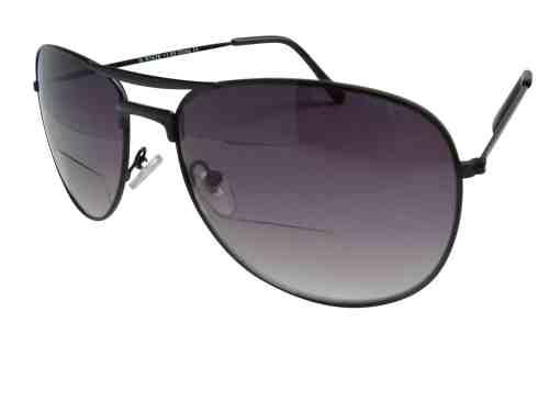 Mario Aviator Bifocal Sunglasses in Black