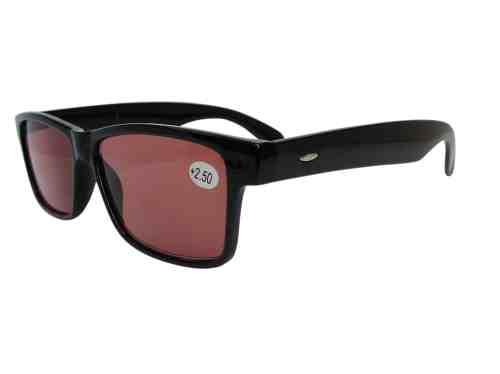 Denver Wayfarer Yellow Lens Driving Glasses in Black