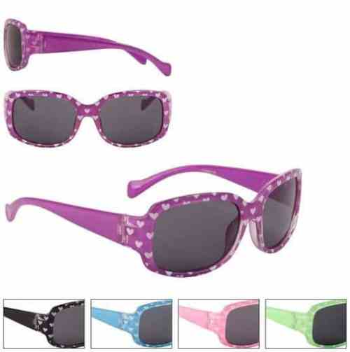 Girls Fashion Heart Sunglasses