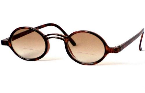 Geek Bifocal Keyhole Sunglasses in Tortoiseshell