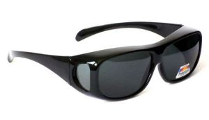 Anti Glare Polarised Over Top Sun Shields in Black