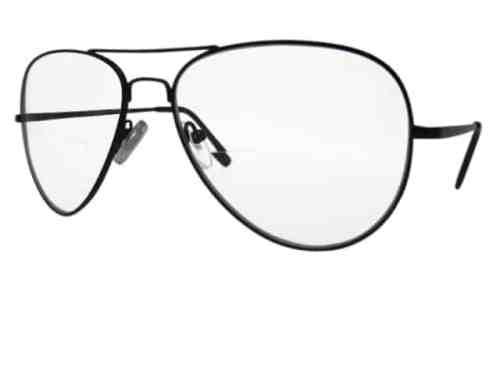 Nebraska Aviator Bifocal Reading Glasses in Black