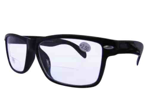 Delaware Wayfarer Bifocal Reading Glasses in Black