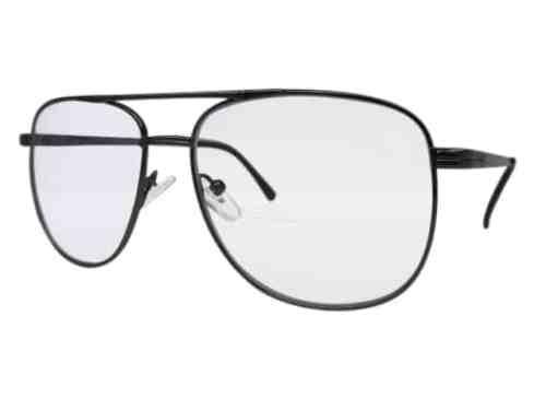 Texas Square Aviator Bifocal Reading Glasses in Pewter
