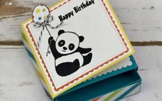 Party Pandas 3×3 Slider Box with Card