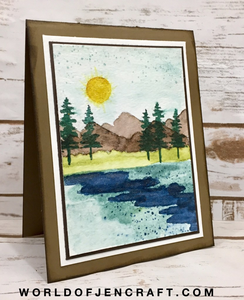 Stampin' Up! – Waterfront Watercolor Scene