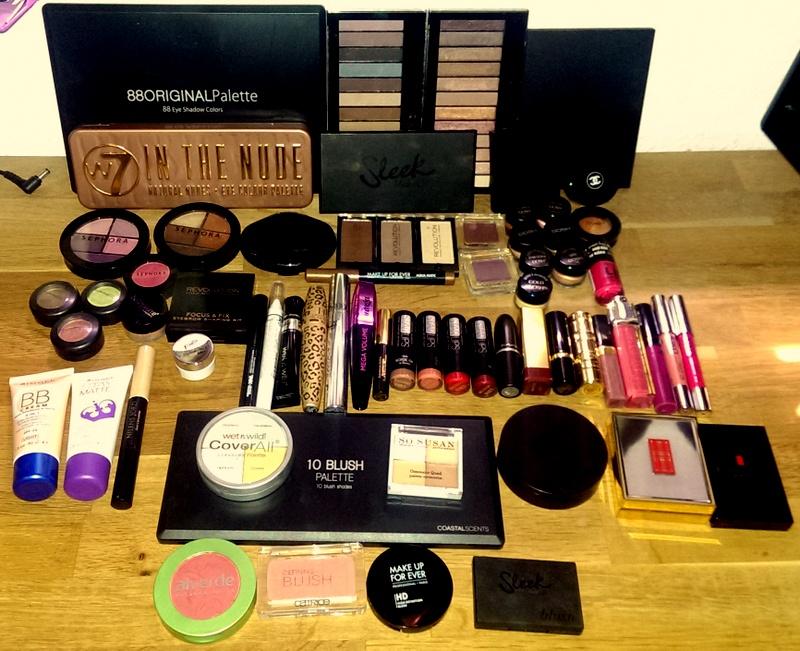 Min makeup samling (1/6)