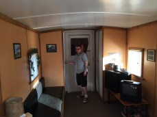 Yes, this it the inside of the caboose.