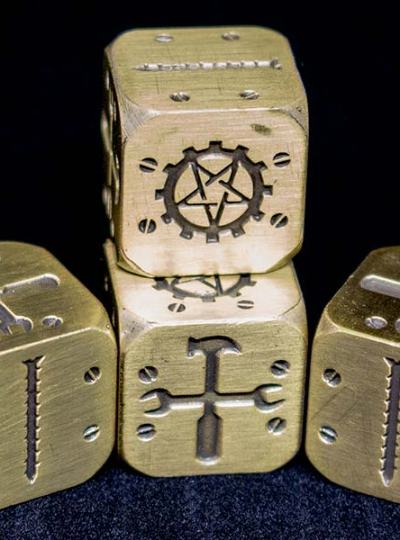 Mechanika Brass Dice