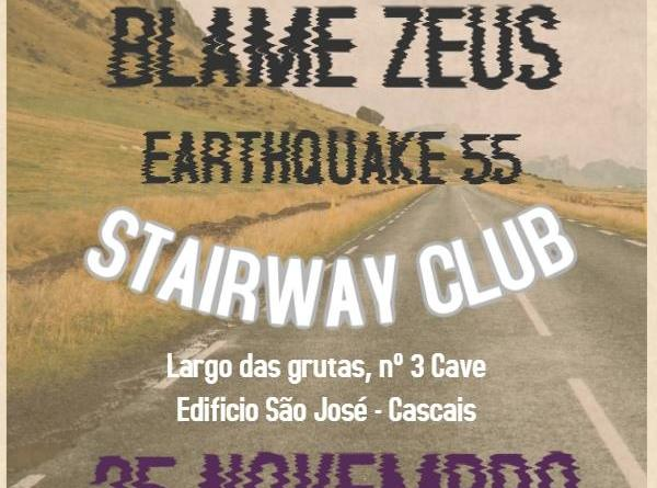 25/11/17 – Stone Cold Lips, Blame Zeus, Earthquake 55  – Stairway Club, Cascais