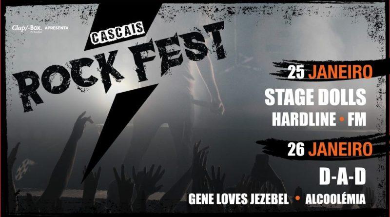 25 e 26/01/19 – Cascais Rock Fest – Stage Dolls, Hardline, FM, D.A.D., Gene Loves Jezebel, Alcoolémia – Casino Estoril, Estoril