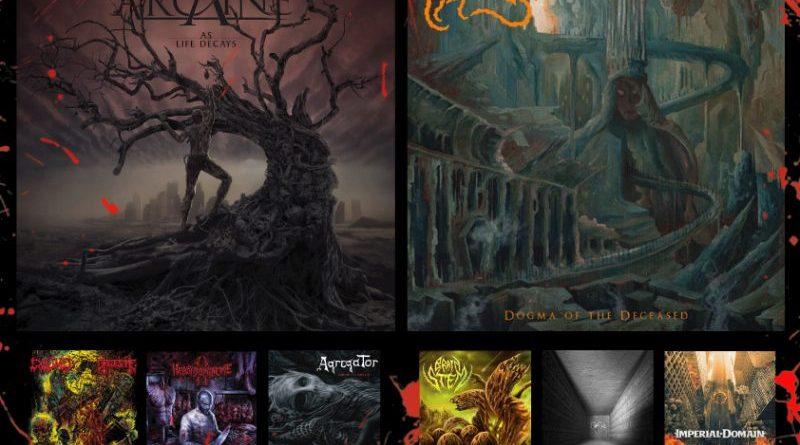 WOM Reviews – Arcaine / Carnosus / Exhumed – Gruesome /  Brain Stem / Heboïdophrenie / Re-Armed / Abyssous / Imperial Domain